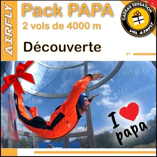 Billet cadeau soufflerie Airfly Fête des Pères