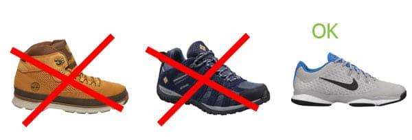 Chaussures à crochet
